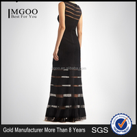 MGOO 2015 Latest Design Your Own Dress Wholesale Evening Dress Long Mermaid Black Prom Party Dress H428