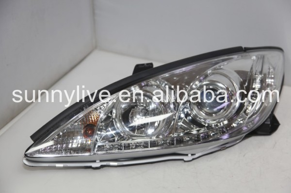 2001-2006 Year TOYOTA Camry LED Head Lights R8 Style Chrome housing SN