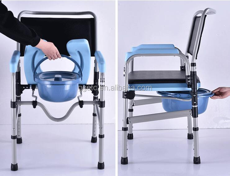 Most excellent toilet commode chair with wheelchair for elderly and disabled people with good material