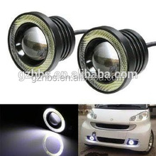 Universal Projector COB LED Car Fog Light Halo Angel Eyes Rings DRLWhite Green Amber 12V Road Fog Lamp