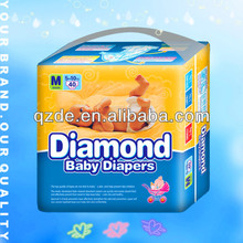 Diamond Soft Sleepy Cotton Disposable Baby Diapers with Good Quality