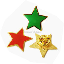 metal soft enamel red star lapel pins wholesale from china