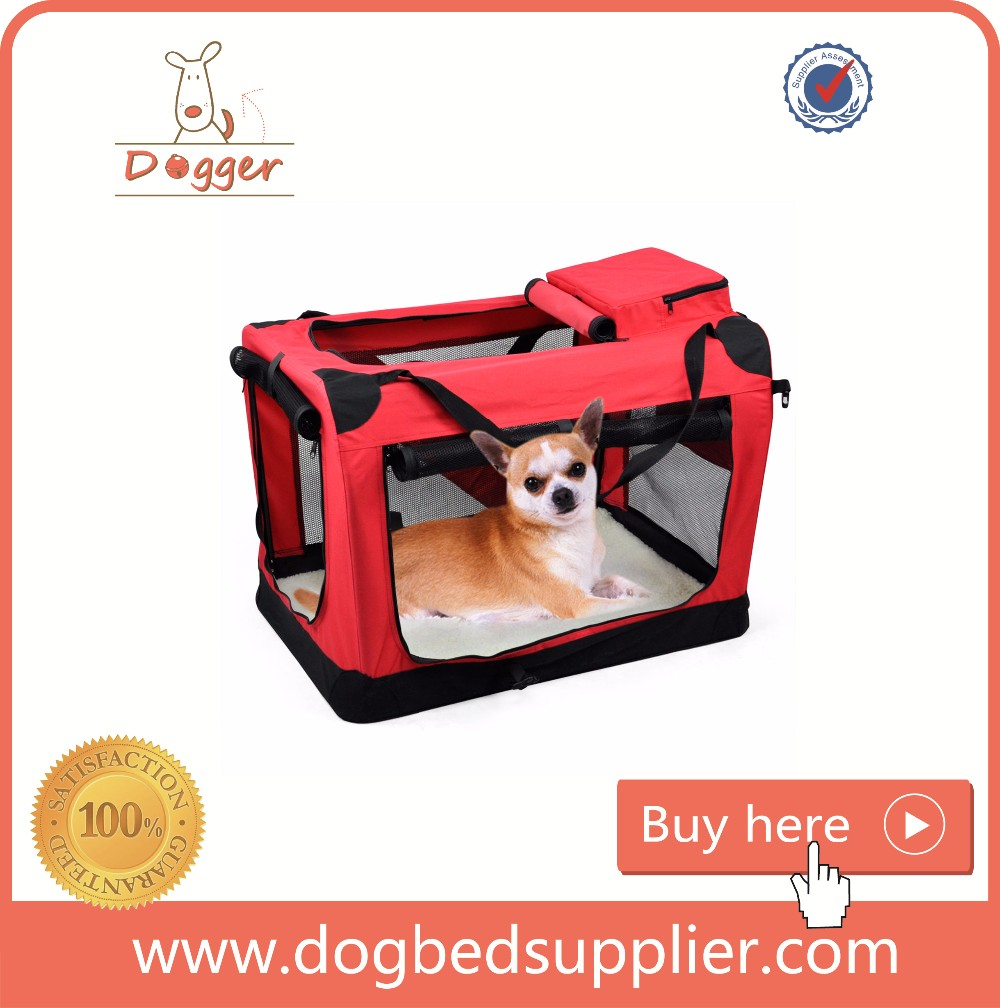 pet product soft sided pet carrier folding fabric dog crate