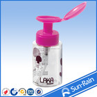 Double soap dispenser plastic nail polish pp feeding empty bottle