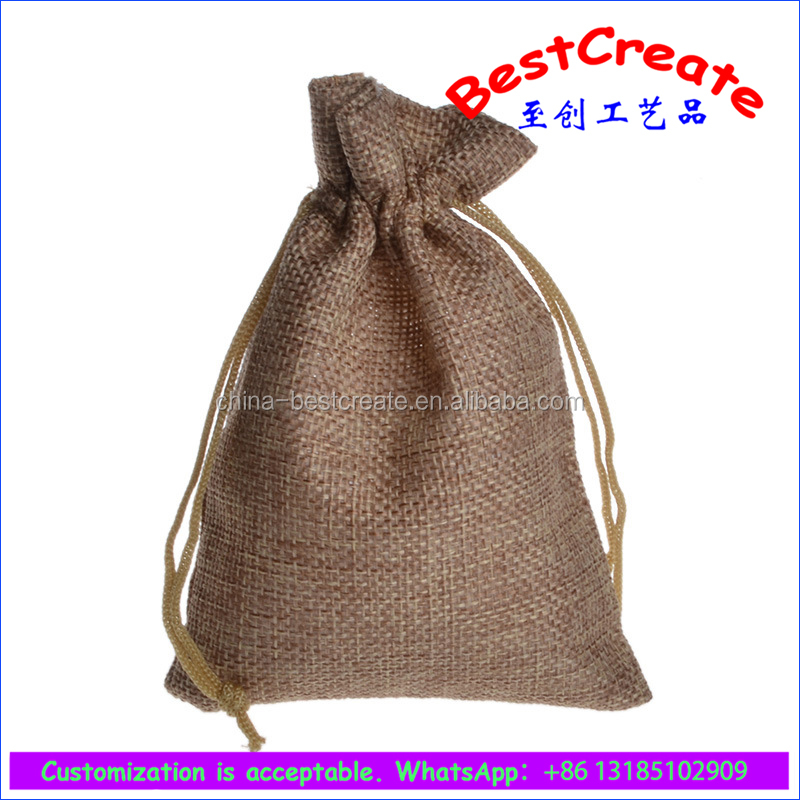 Custom cheap handmade linen fabric recycled bags wholesale