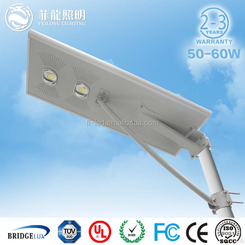 solar led street lights with pole for 5 years warranty with UL/cUL DLC approved