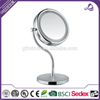 Professional led rhinestone compact mirror with high quality