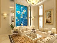 wholesale Eco-friendy 3d mural relievo looking flowers picture for wall