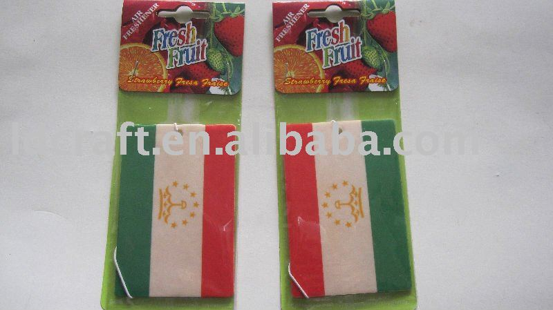 papier parfum de voiture car fragrance country flag paper air freshener