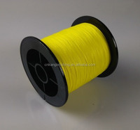 Fluorescent yellow spider japanese braided 500 yard spool fishing line