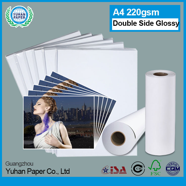 Professional OEM A4 230gsm double sided waterproof inkjet high glossy photo paper