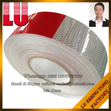 Red and White DOT-C2 Car Adhesive Sticker Sheeting Tape Manufacturer Reflective Vinyl Material Sticker Sheeting Tape