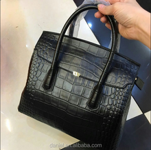 Big designer crocodile leather bags lady office handbag women tote bag