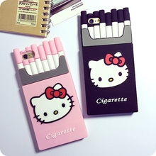 Creative personality cigarette boxes hello kitty Silicon Mobile phone case For iPhone6 / plus 5s