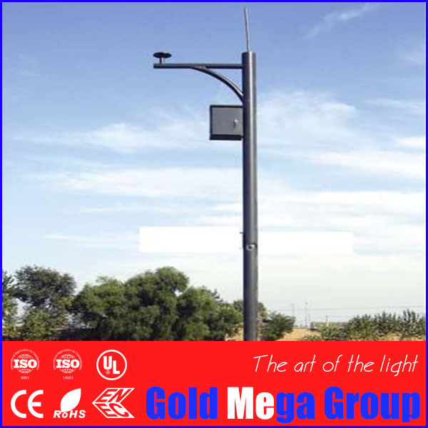 Single arm Pole Mounting Loop Bracket 5-15 m height Steel for CCTV Surveillance PTZ Dome CCD Camera, cctv camera bracket
