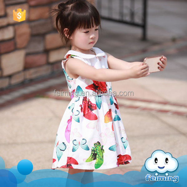 SD-1084G fashion kids cotton frock suit design image children clothing baby girls cotton casual dress