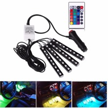 12V Car RGB LED DRL Strip Light Car Decorative Atmosphere Lamp Kit Car Auto Interior Lighting DC12V