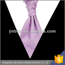 Mens polyester self tied cravat tie