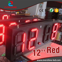 large outdoor led digital clock temperature time sign and led gas station display