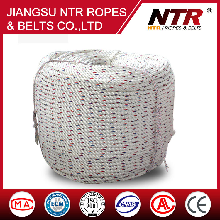 NTR 2016 Best selling polyester braided 3-ply marine wire rope