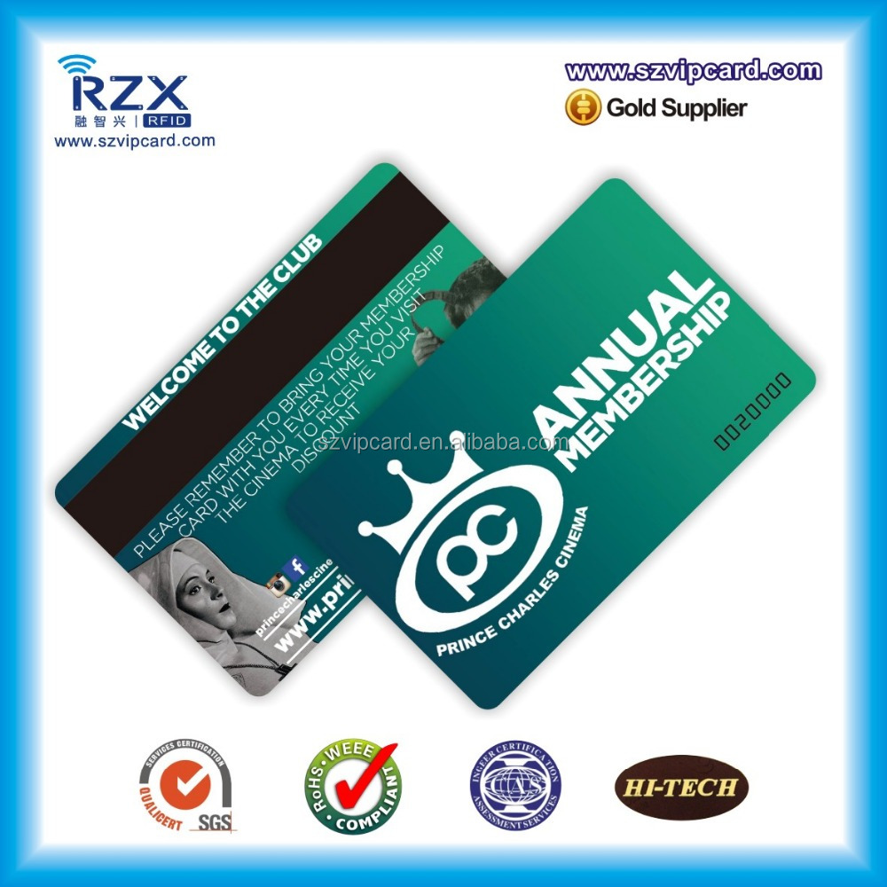 2017 hot sale printing plastic pvc card with magnetic stripe