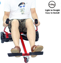 New product Hoverkart with cool wheel and adjustable seat