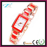 2014 Unique deisgn diamond studded watch popular in Europe all alloy material with customer logo