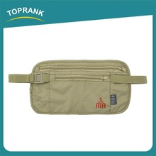 Toprank Promotional Travel Accessory Travel RFID Waist Money Belt RFID Blocking Wallet Bag