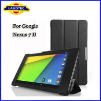 2013 100%Tested on real Google Nexus 7 II,Ultra Slim Smart shell Stand Case for Google Nexus 7 2, sleep wake up function,Laudtec