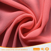 High density 100% polyester plain vertical soft chiffon fabric for dress wedding garment