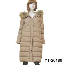 YT-20180 New Fashion long dress down jacket made in china