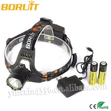 Boruit USB Rechargeable CREE LED Headlamp For Hunting