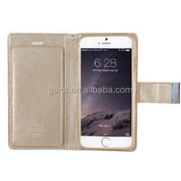 For Samsung Galaxy S5 I9600 Metal Button Card Slot Leather Cell Phone Case,Goospery Rich Diary Case