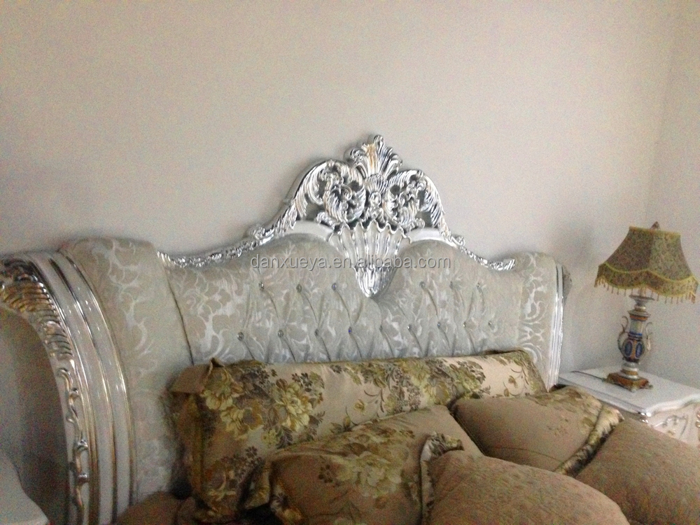 White And Silver French Bedroom Set Antique Luxury Super King Size Beds Buy Luxury Furniture