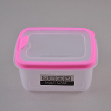 Rectangle Airtight Plastic Sealed Food Container with porous lid(M) Food Grade Plastic Container