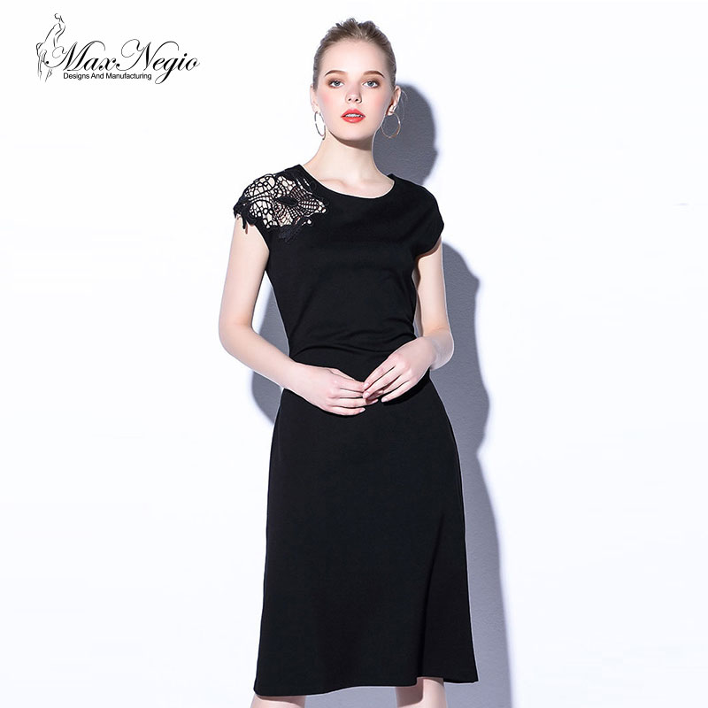 Laser Cut Dress Women Layered Top Keyhole Back With Hook And Eye And Dry Clean Formal Dress In Wholesale Price