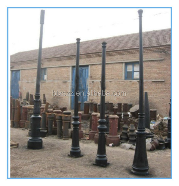 outdoor street lighting yard park garden lamp pole,casting outdoor lighting standing poles