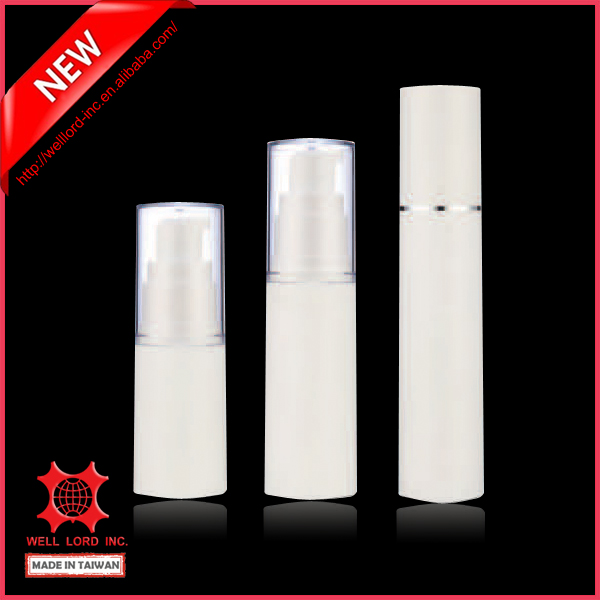 Wholesale travel kit aluminum ring deco pure white lotion container