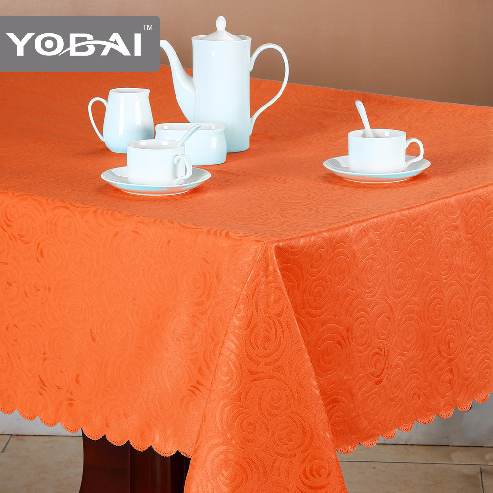 Fancy Cover Polyester Embossed Table Cloth