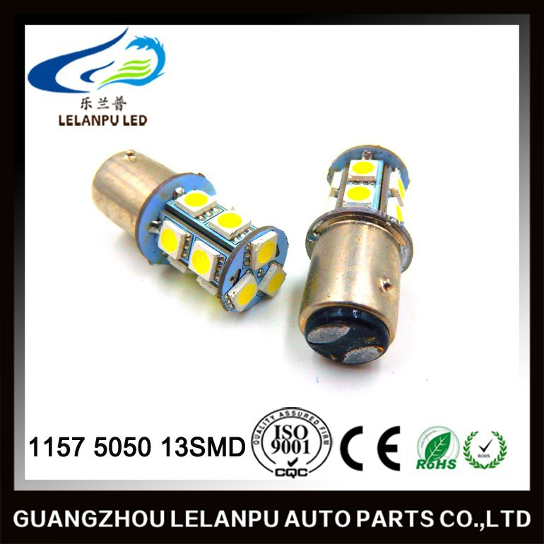 13SMD 1157 WHITE 5050 5055 LED AUTO TURN SIGNAL 12V TAIL LIGHT BULB LAMP car led break light
