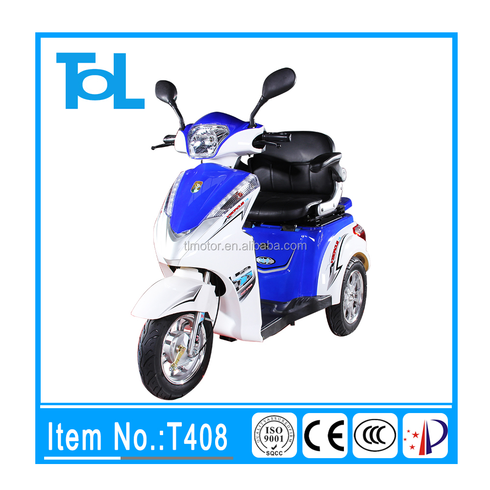 T408 500W 48V 3 wheel disability electric mobility scooter adult tricycle motorcycle