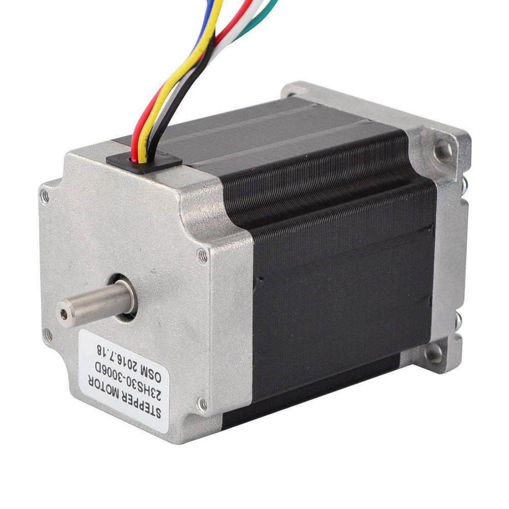 Unipolar Dual Shaft 135nm 3a 3v 76mm Nema 23 Stepper Motor With 6 Wiring Wires Buy 76mm3v Motornema Product
