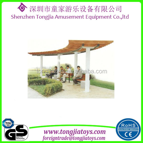 Chinese styple wood pergola pavilion outdoor leisure place