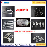 Car Exterior Accessories ABS Chromed Complete Full Kits For Ford Everest 2015 2016