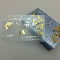free sample CR80 Customized printing free shipping gold business card