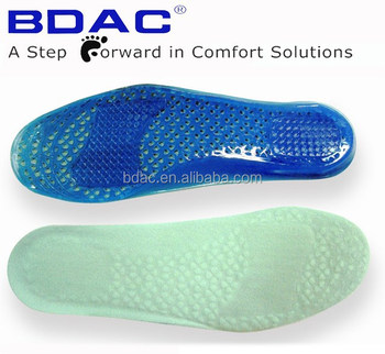 soft gel Athletic sport insole with air holes shoe insoles gel
