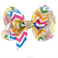 3.5 Inch Cute Baby Rhinestones Rainbow Boutique Hair Bow BH1537-X