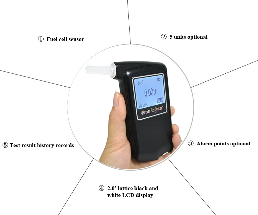 Greenwon Breathalyzer Chinese Manufacturing Company Production AT868F Drive Safety Digital Advacne Fuel Cell Alcohol Tester