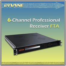 FTA 6 Channel Professional 4k Dvb-t2 Satellite Receiver