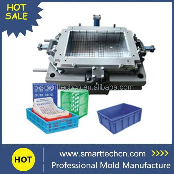 Foldable Plastic Injection turnover crate mould die making